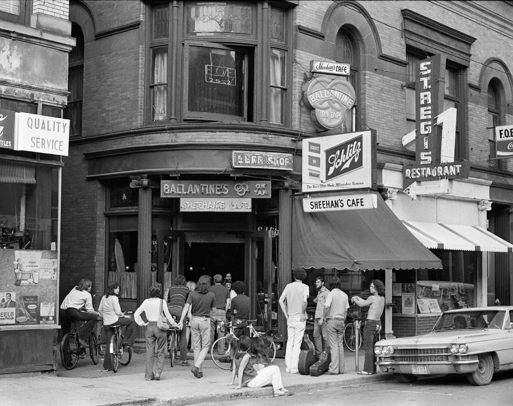 Film scan of Sheehan's Cafe in Downtown Northampton Circa 1975 by Tad Malek